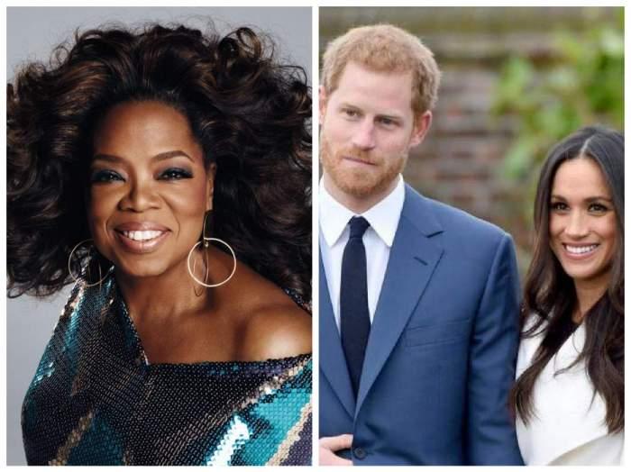 Colaj cu Oprah și prințul Harry la braț cu Meghan Markle