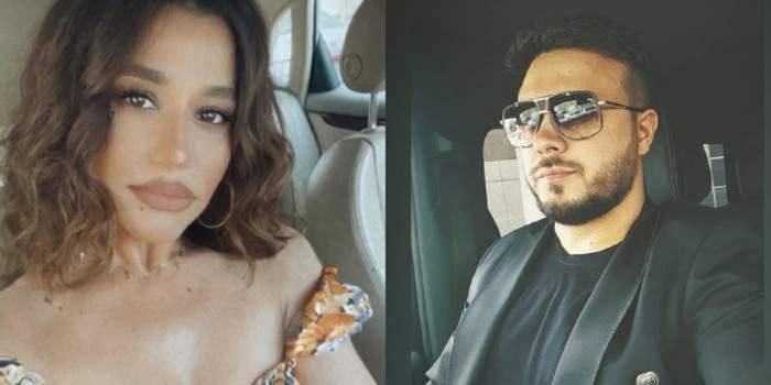 Un colaj cu Gabi Bădălău și Claudia Pătrășcanu. Amândoi își fac selfieuri din mașini separate, iar el poartă ochelari de soare.