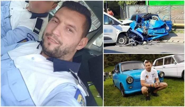 Un polițist de la Rutieră a murit în trabantul pe care-l conducea. Cornel Vereștiuc a intrat pe contrasens