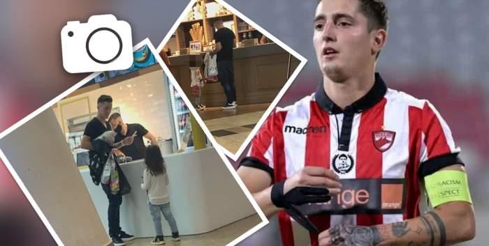 Steliano Filip este un tată-model, dar nu și un cetățean care respectă legea. Cum a fost surprins fotbalistul într-un centru comercial aglomerat / PAPARAZZI