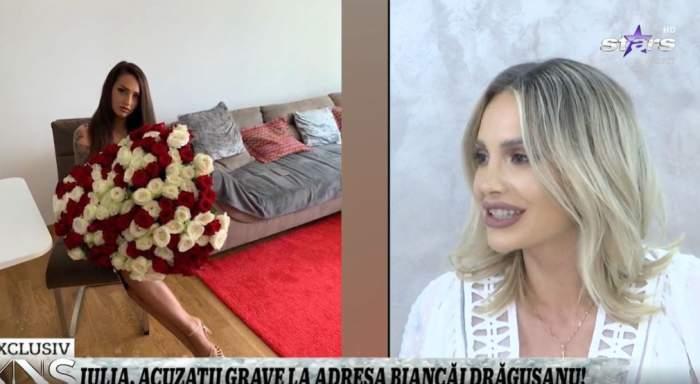Iulia Sălăgean în timpul unui interviu la XNS.
