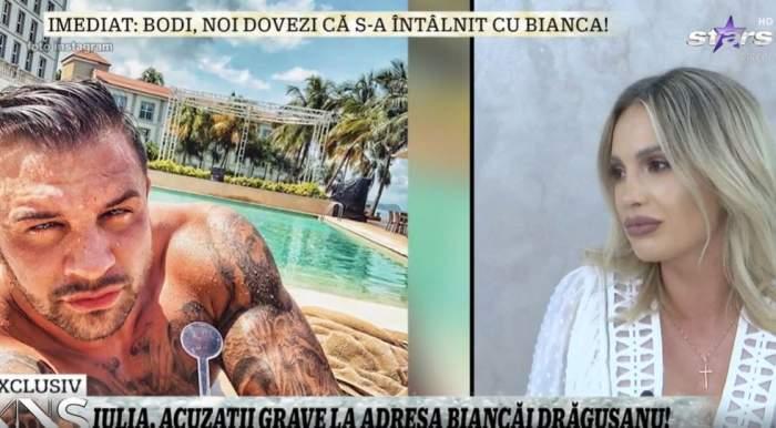"""Cum a reacționat Iulia Sălăgean, după ce s-a întâlnit cu Alex Bodi: """"Nu vreau să-i creez probleme""""! Fosta soție, declarații la Xtra Night Show"""