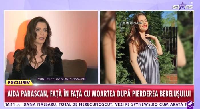 """Aida Parașcan, distrusă de durere, după ce a pierdut sarcina în luna a cincea: """"Bebelușul nu mai trăia de 4 săptămâni"""""""