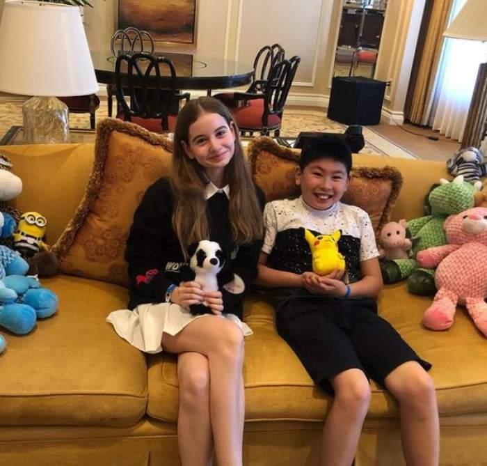 """Monica Gabor, mesaj emoționant pentru Irinuca și fiul lui Mr. Pink. Ce le-a transmis vedeta: """"Îmi faceți viața mai bună"""""""