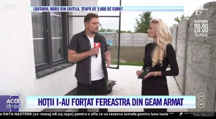 """Acces Direct. Ce au descoperit polițiștii, după ce vila Emiliei Mușală a fost spartă de hoți: """"Cineva a filat casa, pentru că e singurul geam care se deschide"""" / VIDEO"""