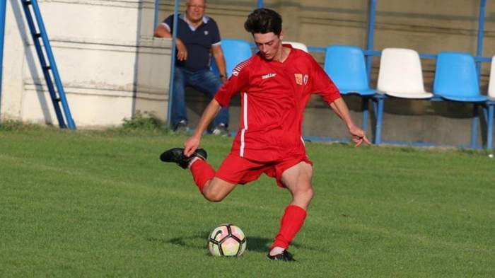 Dănuț Radu, fotbalistul mort, pe teren