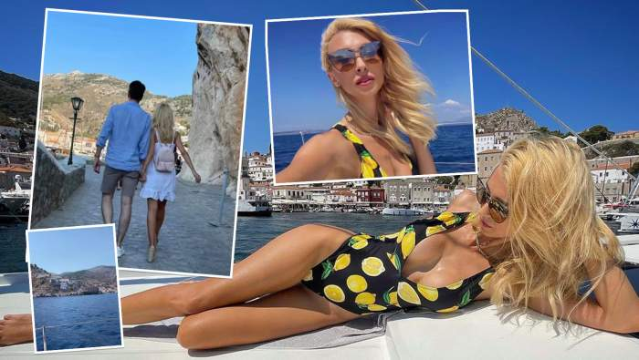 Andreea Bălan și iubitul ei, vacanță romantică în Grecia. Ipostaze tandre cu artista și Tiberiu Argint din destinația de vis! / FOTO