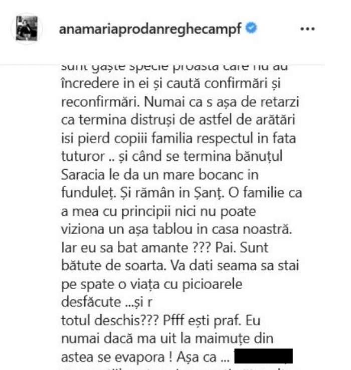 """Anamaria Prodan, atac furibund la adresa amantelor: """"Ce maimuță poate sta la brațul lui Reghe?"""" / VIDEO"""