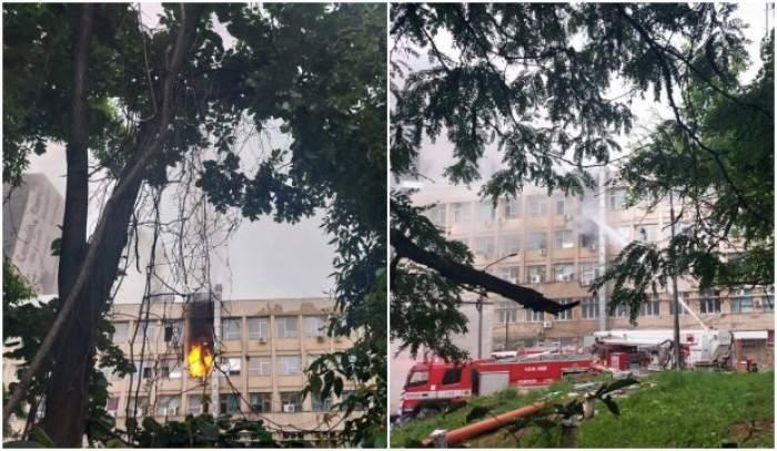 """Incendiu la Spitalul de Copii """"Sfânta Maria"""" din Iași. Pompierii se luptă să stingă flăcările uriașe"""
