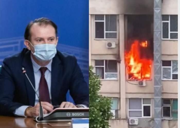 """Premierul Florin Cîțu, despre incendiul de la Spitalul de Copii din Iași: """"Nu ştim de la ce a pornit"""""""