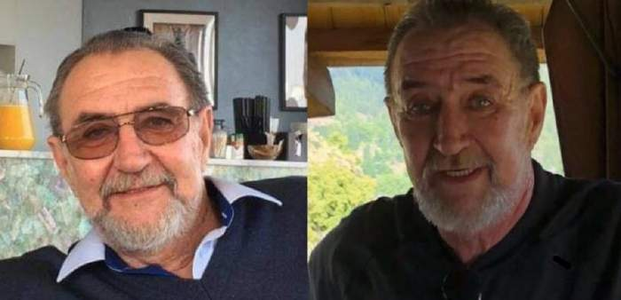 Colaj cu doctorul Dumitru Dumitrescu, medicul găsit mort în casă. În stânga e la un restaurant și poartă ochelari de vedere, iar în dreapta poartă un tricou negru