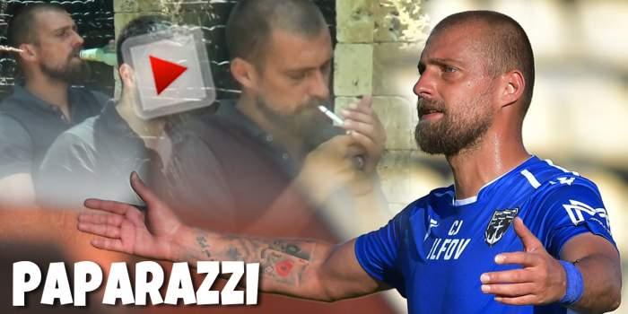 Gabi Tamaș știe că viciile nu-s bune, dar totuși nu renunță. Cum a fost surprins celebrul fotbalist la o cafenea din București / PAPARAZZI
