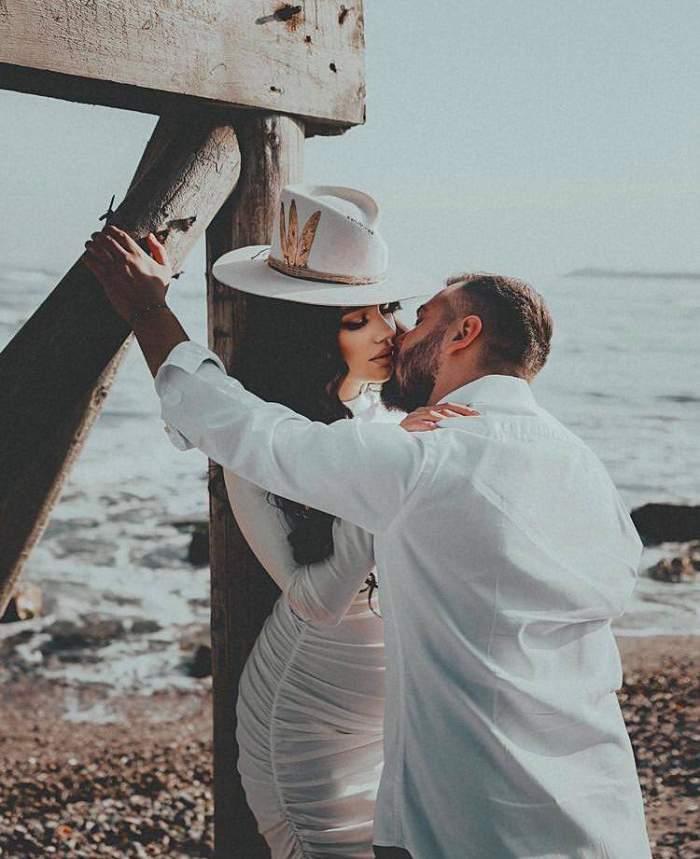 Nuntă ca în basme în showbiz-ul românesc! Larisa Udilă și Alexandru Ogică s-au căsătorit într-un cadru de vis. Nume mari din lumea mondenă au fost prezente / FOTO