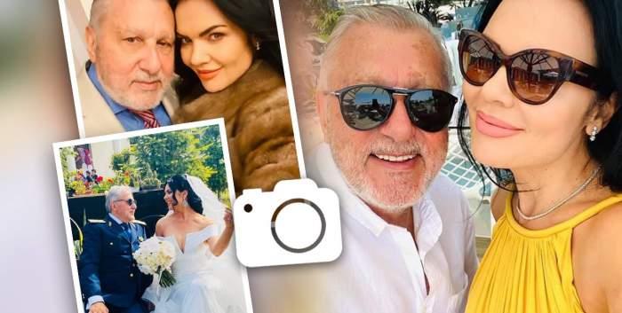 O machetă cu Ilie Năsyase și soția lui. Sunt două poze în care-și fac selfie și una de la nunta lor.