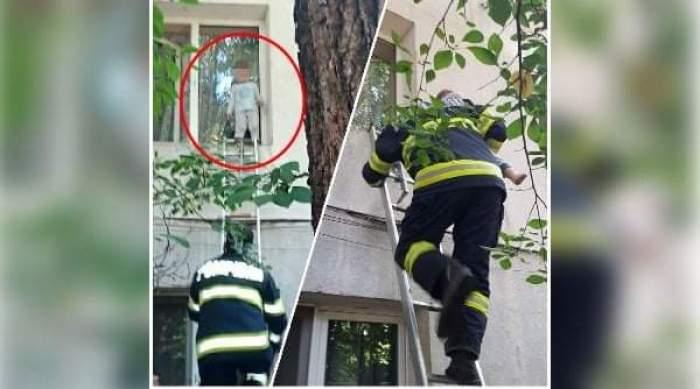 Scene cumplite la un bloc din Focșani. Un copil de doi ani a ieșit pe geamul apartamentului pentru a se plimba pe pervaz
