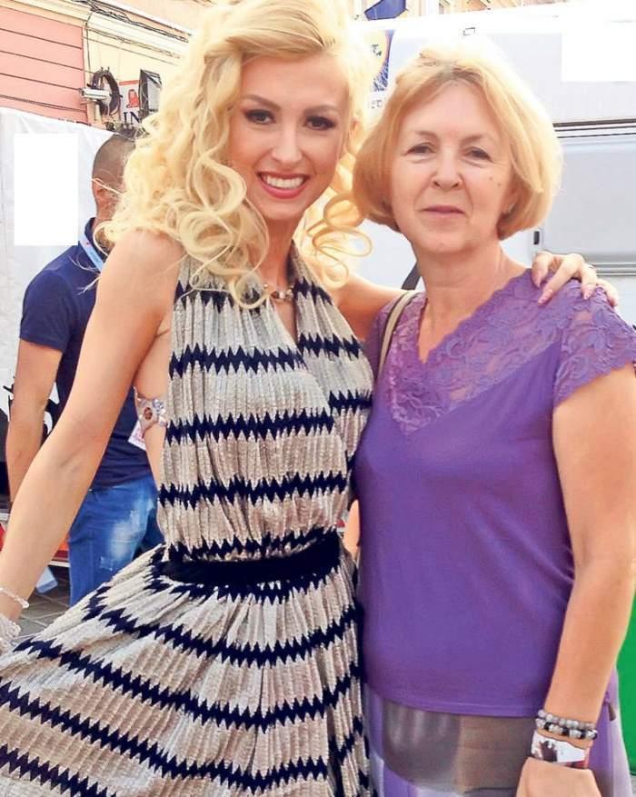 Andreea Balan cu mama ei