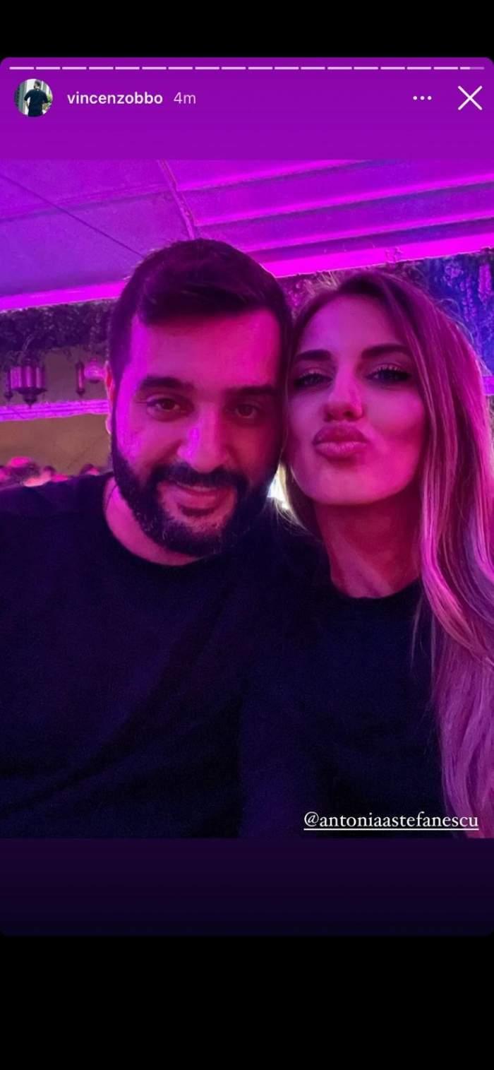 Antonia Ștefănescu alături de Vincenzo.