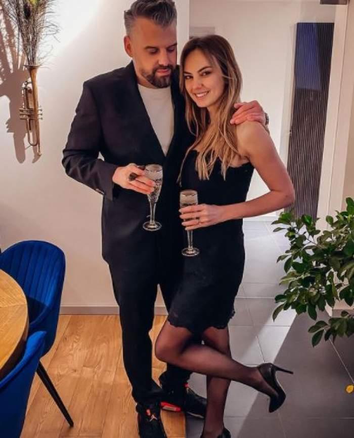 Roxana Ionescu și Tinu Vidaicu la un eveniment monden.