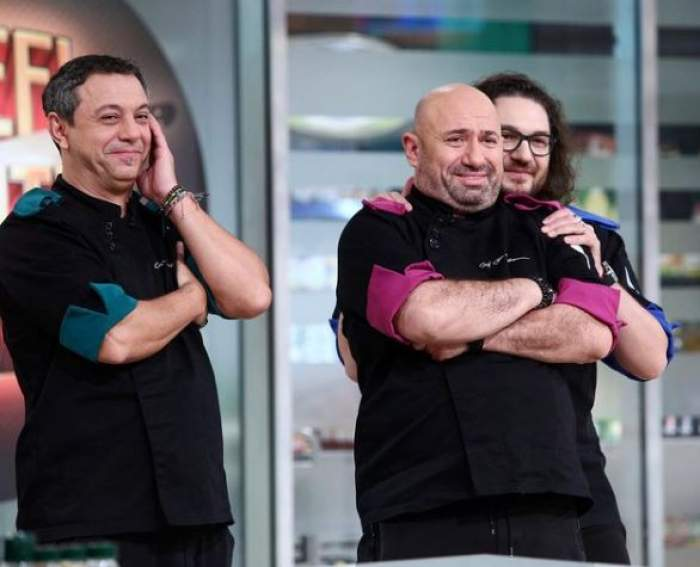 Cătălin Scărlătescu, Florin Dumitrescu și Sorin Bontea la Chefi la cuțite.