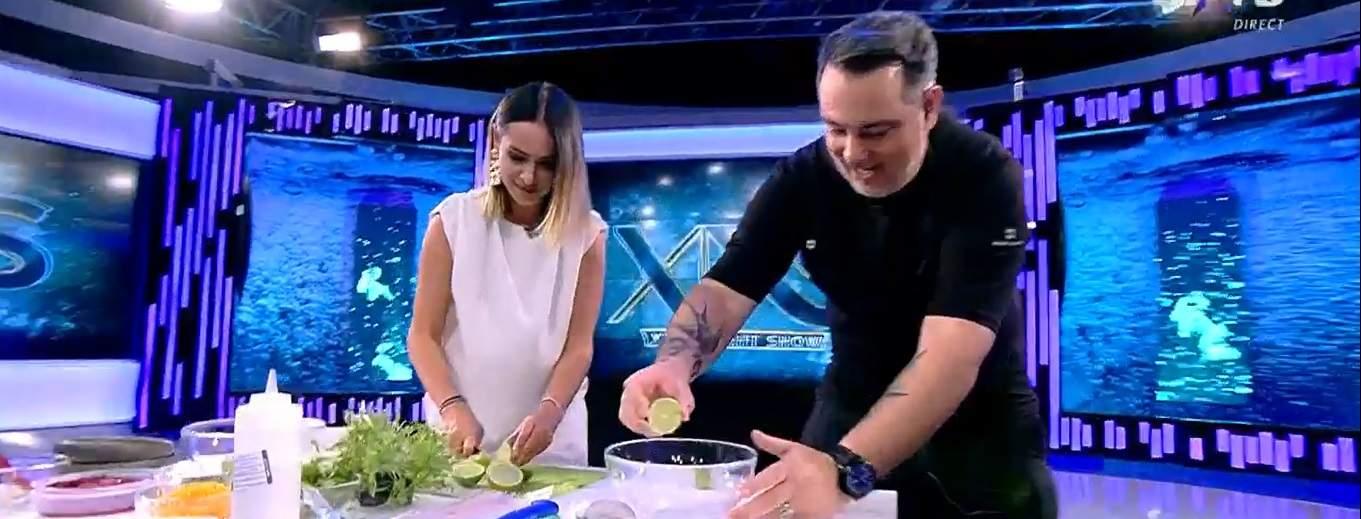 Captură video cu Andra Mihail la Xtra Night Show.