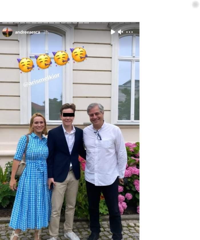 """Fiul Andreei Esca, Aris Melkior, a absolvit liceul la Școala Franceză. Prezentatoarea nu a lipsit de la ceremonie: """"Sunt mândră de tine"""" / FOTO"""
