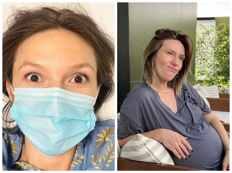 Colaj cu Adela POpescu la medic și cu burtica de gravidă