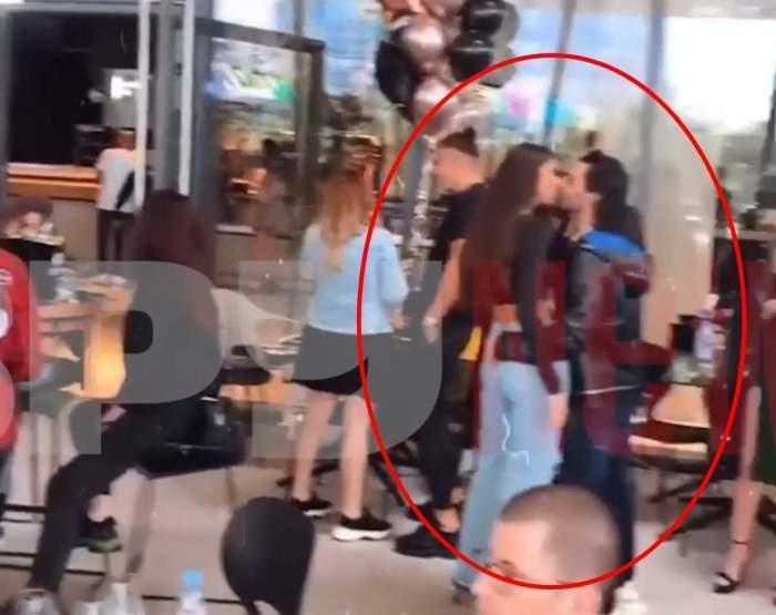 Pepe în timp ce se săruta cu Yasmine.