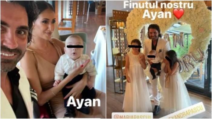 Colaj cu Pepe și Yasmine la un botez.