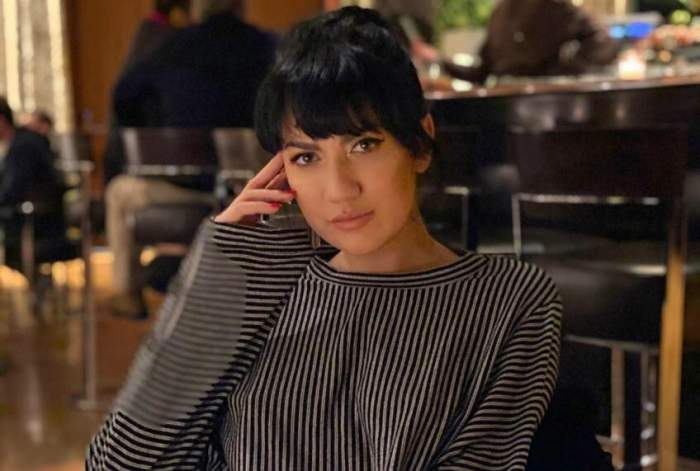 Daliana Răducan la restaurant.