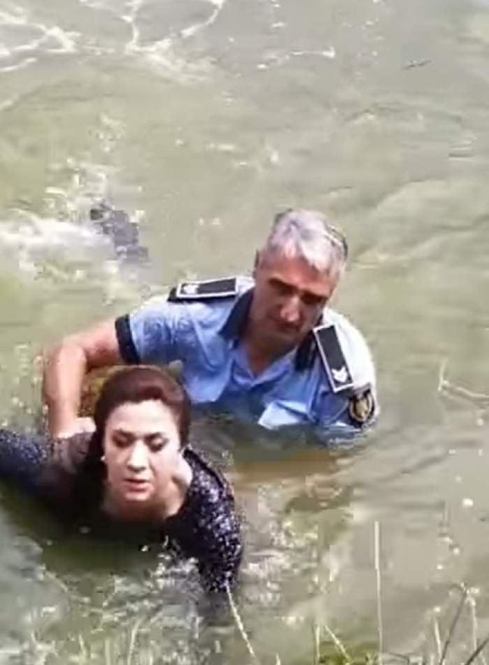 Polițistul care a salvat-o pe șoferița din Iași căzută cu maşina în lac va fi premiat. Bărbatul va primi 1000 de euro pentru gestul său