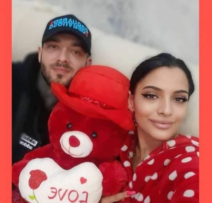 Dodo și Liviu când erau împreună, cu un ursuleț în brațe.
