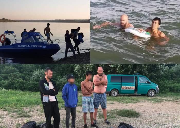 Patru migranți au fost salvați de la înec în timp ce încercau să traverseze ilegal Dunărea cu o barcă gonflabilă