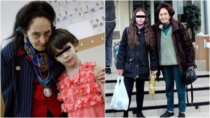Colaj cu Adriana Iliescu alături de fiica sa, Eliza.