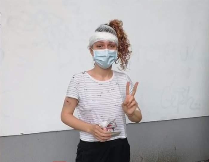 """În ce stare se află acum tânăra care a fost spulberată  de o trotinetă electrică, pe un trotuar din București: """"Mă întreb cum scăpa"""" / FOTO"""