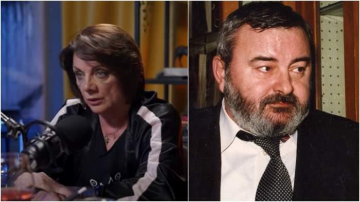 Colaj cu Carmen Tănase în cadrul unui interviu/ Victor Parhon când trăia.