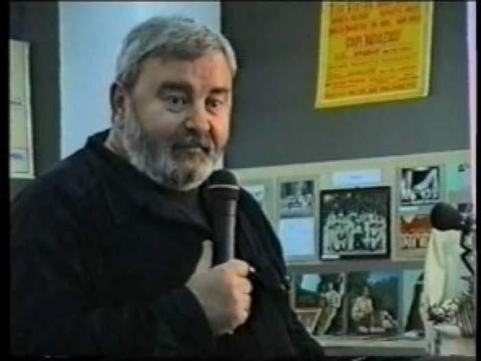 Victor Parhon când trăia, în timpul unui interviu.