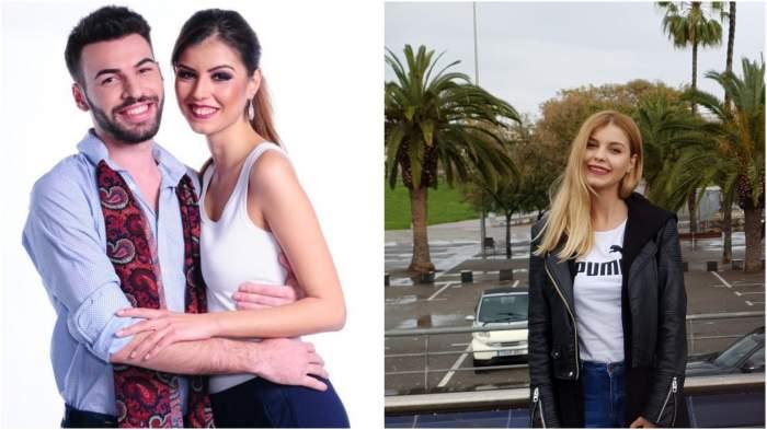 Colaj cu Alice Zlatov și Alin când erau la Insula Iubirii/ Alice Zlatov cu geacă neagră și tricou alb.