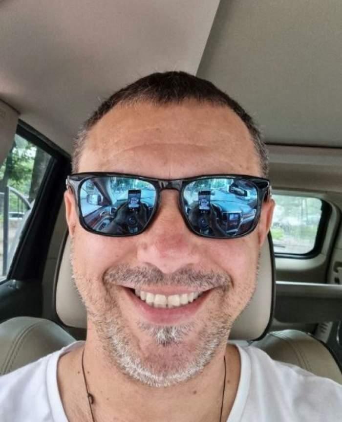 Sorin Bontea, cu părul scurt și ochelari de soare.