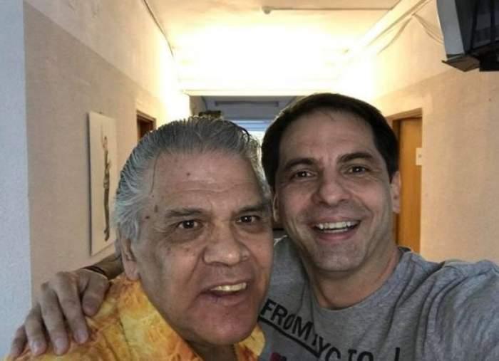 Dan Negru alături de Florin Condurățeanu, când acesta trăia.