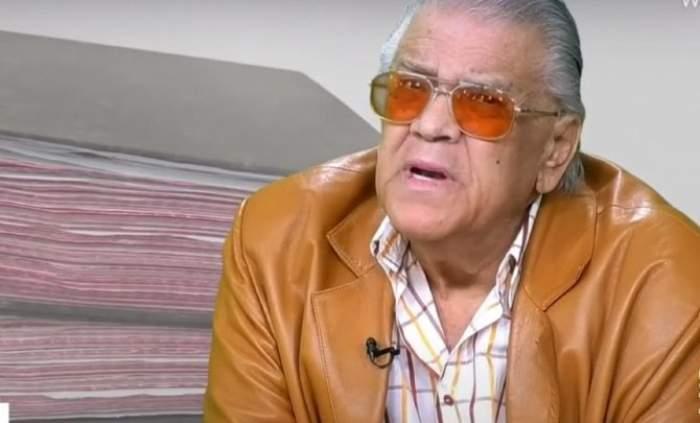 Florin Condurățeanu când era în viață, în timpul unei emisiuni TV.