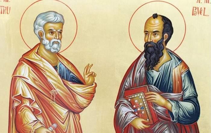 Icoană cu Sfinții Apostoli Petru și Pavel.