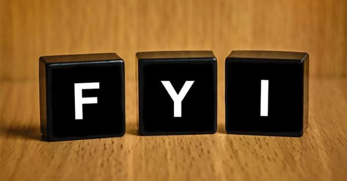 Ce înseamnă FYI și când se folosește această abreviere