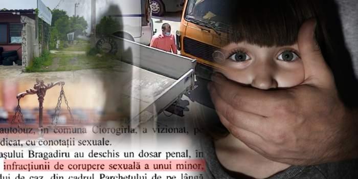 VIDEO / Perversul care a încercat să agațe o fetiță, ajutat să distrugă probele / Ce a declarat copila, ieri, în fața anchetatorilor! Document exclusiv