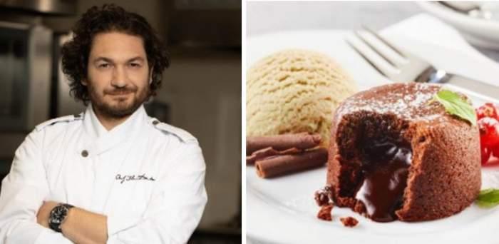 Rețeta de lava cake a lui chef Florin Dumitrescu. Care este secretul pentru un desert reușit
