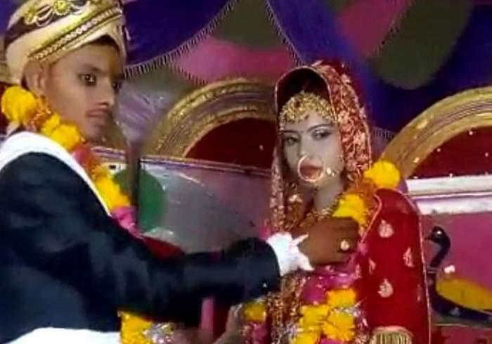 Nisha alături de soțul său.