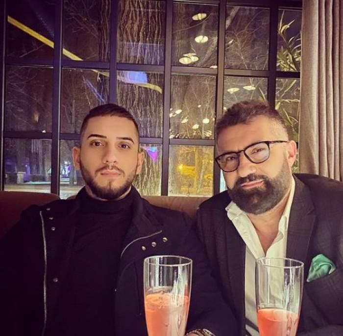 Fulgy și Ioniță de la Clejani la restaurant.