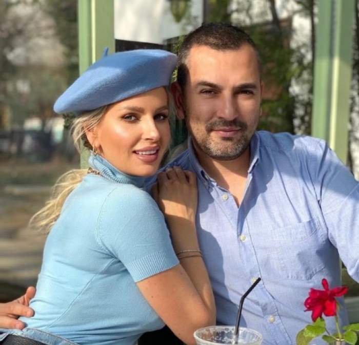 Andreea Bănică în brațele lui Lucian Mitrea