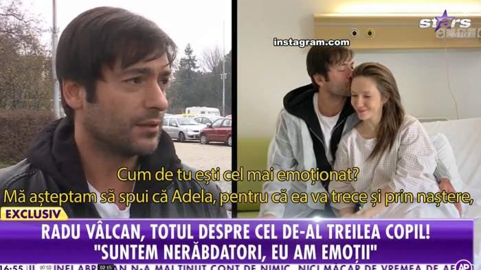 """Radu Vâlcan, pregătit să devină tată pentru a treia oară. Actorul așteaptată cu nerăbdare momentul: """"Avem emoții"""" / VIDEO"""