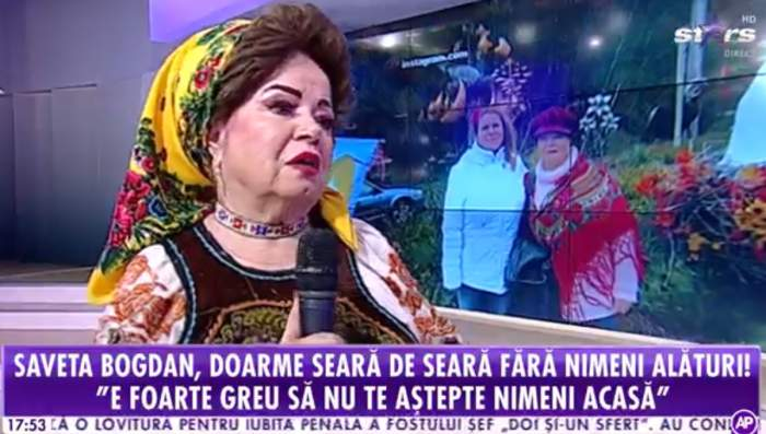 """Saveta Bogdan i-a auzit vocea fratelui în casă înainte să moară. Cântăreața nu va uita niciodată momentul: """"Imediat m-a sunat nepoata mea"""""""