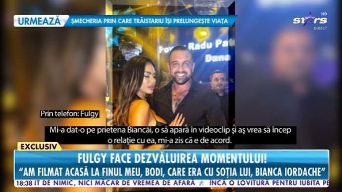 Alex Bodi în club cu Bianca Iordache, captură Antena stars